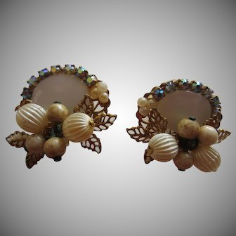 Pretty Vintage Fruit and Nuts Haskell-like Earrings