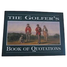 The Golfer's Book of Quotations Book