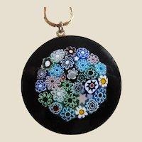 Light-catching  Millefiori Glass Pendant Necklace
