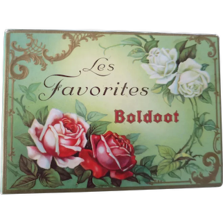 Les Favorites BOLDOOT Vintage Perfume Box with Luscious Roses, Holland, c. 1920's