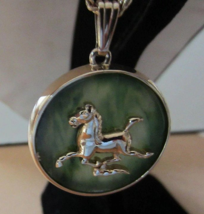 Jade gold plated horse pendant necklace red tag sale item sold jade gold plated horse pendant necklace red tag sale item aloadofball Choice Image