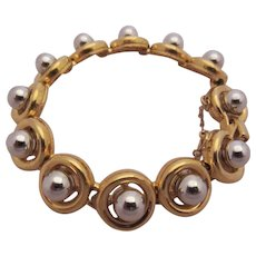 D'ORLAN Versatile Goldtone and Silvertone Bracelet
