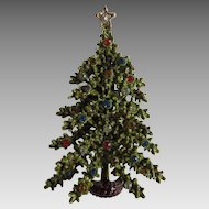 ART Double Layer Dimensional and Bejewelled Christmas Tree Brooch
