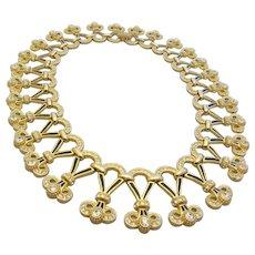 CHRISTIAN DIOR Fabulous Runway Enamel and Diamanté Collar Necklace, c. 1980's