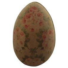 Large Vintage Floral Chintz Covered Easter Egg Box