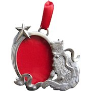 LINDSAY CLAIRE, Canada Fine Pewter Cat Photo Christmas Tree Ornament