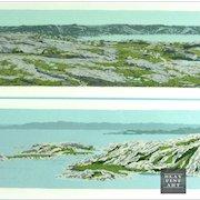 David Peter Hunsberger Signed Numbered Serigraph Seascape Print Listed Canadian Artist