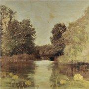 Original 21st Century Modern Framed Painting Listed Artist Arleigh Wood Signed Mixed Media
