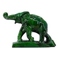 Charles LEMANCEAU French Art Deco Elephant Statue, 1930s