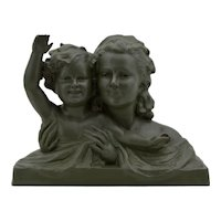 Ugo CIPRIANI French Large Art Deco Terracotta Mother & Child Sculpture 1930s