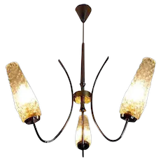 Vintage French Chandelier 1950s