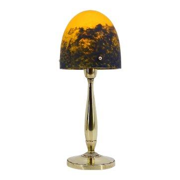 DAUM French Art Deco Table Lamp, 1920s