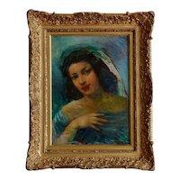Pere (Pedro) CREIXAMS PICO Gypsy Woman Oil on Canvas, ca.1920