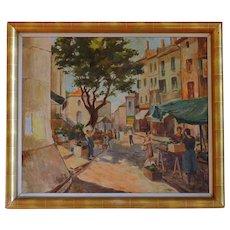 A. Van OEYEN Oil on canvas Art Deco 1939