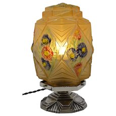 Verlys / Des Hanots French Art Deco Table Lamp, ca.1925