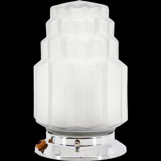 French Art Deco Skyscraper Table Lamp, ca.1930