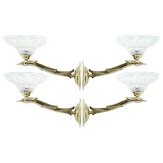 Boris LACROIX French Art Deco Bird Wall Sconces, 1930s