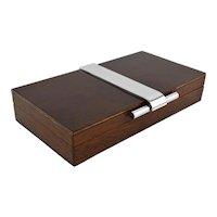 French Art Deco Modernist Cigar / Cigarette Box 1930s