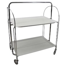 Mid-century Folding Serving Trolley Table, 1960s