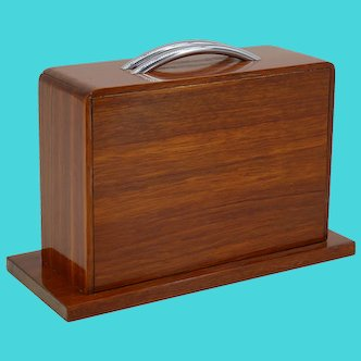 French Art Deco Suitcase Cigarette Box, 1930s