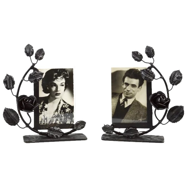 Art Deco Ornamental Ironwork: French Art Deco Pair Of Wrought-iron Photo Frames 1930