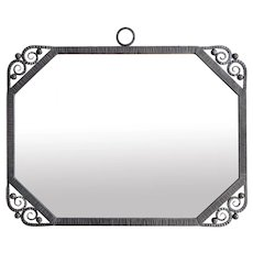 Large French Art Deco Wrought-iron Mirror 1930s