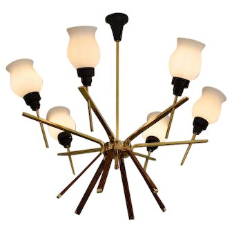 French Mid-century Chandelier, 1960s