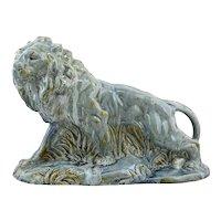 Moulin-des-Loups, Orchies, French Art Deco Ceramic Lion, 1930s