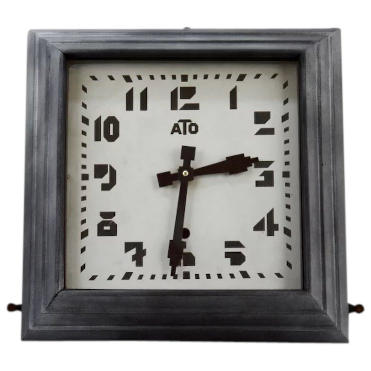 ATO French Art Deco Wall Clock 1930