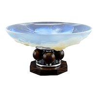 ETLING French Art Deco Opalescent Glass Center Bowl 1930s