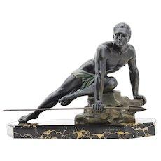 Jean de Roncourt French Art Deco Hunter Sculpture, ca.1925