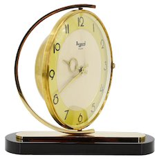 BAYARD French Art Deco Swivelling Table Clock, 1930s