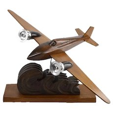 French Art Deco Airplane by ART BOIS 1935