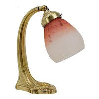 Charles SCHNEIDER French Art Deco Swiveling Bronze Table Lamp, ca.1925