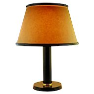 Jacques ADNET Large Leather Lamp 1940's