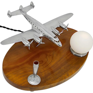 Lockheed Constellation Desk Lamp, Late 1940s
