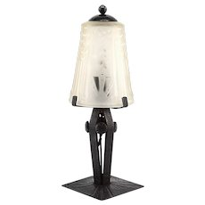 MULLER FRERES FAG French Art Deco Table Lamp, late 1920s