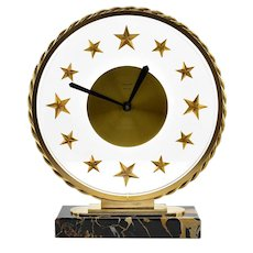 BAYARD French Art Deco Table Clock, 1930s