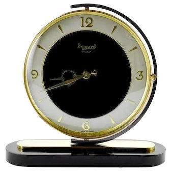 French Art Deco Swiveling Clock by Bayard, 1930s