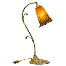 DAUM French Art Deco / Nouveau Table Lamp, 1920s