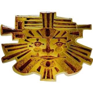 """MATIUS Spectacular French Mid-century """"Inca"""" Wall Light, 1977"""