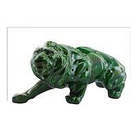 French Art Deco Ceramic Lion, 1930s