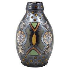 ODETTA French Art Deco Stoneware Vase, Early 1930s