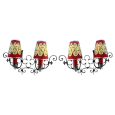 Pair Of Wrought-iron Wall Lights 1935