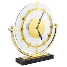 BAYARD French Art Deco Architectural Clock, 1930s