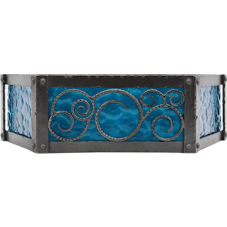 French Art Deco Wrought-iron Wall Sconce, ca.1920