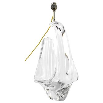 SCHNEIDER Cristalleries French Mid-century Crystal Table Lamp, 1950s