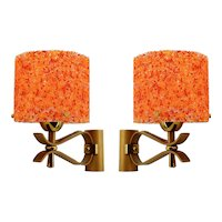 French Mid-century Pop Art Wall Sconces, Late 1960s