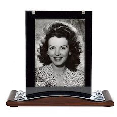 French Modernist Macassar and Chrome Art Deco Photo-frame 1930s