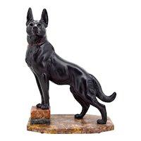 Louis-Albert Carvin German Shepherd Sculpture 1930